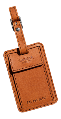 Shinola wallet luggage tag