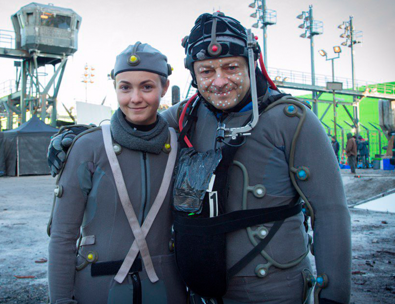 Andy Serkis and Roxanne WarForTheApes