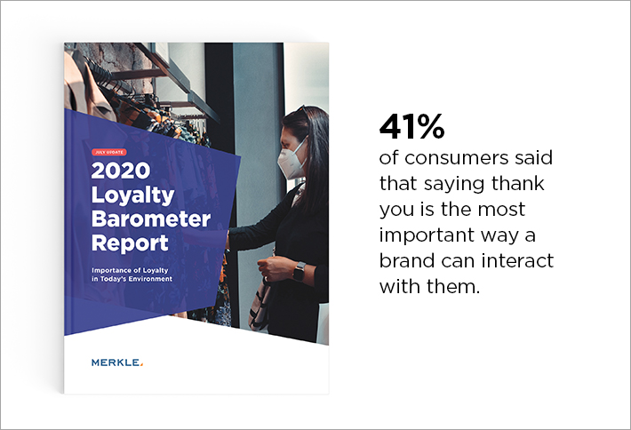 41% of consumers said that saying thank you is the most important way a brand can interact with them.