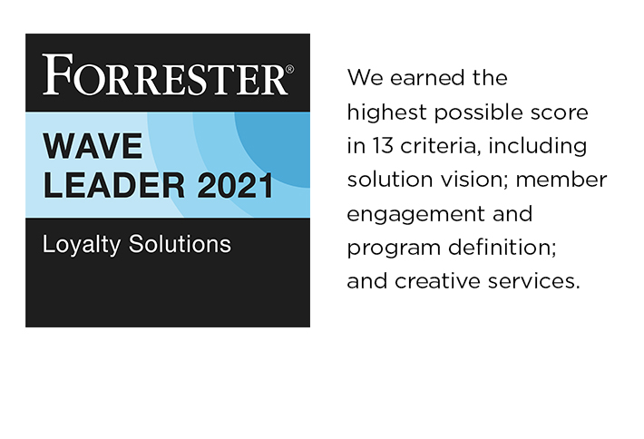 We earned the highest possible score in 13 criteria, including solution vision​​​​​; member engagement and program definition; and creative services.
